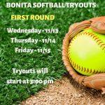 Softball Tryouts – 1st Round