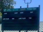 Las Flores Pool Scoreboard Gets Some New Art Work