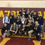 Olmsted Falls High School Boys Varsity Wrestling finishes 1st place