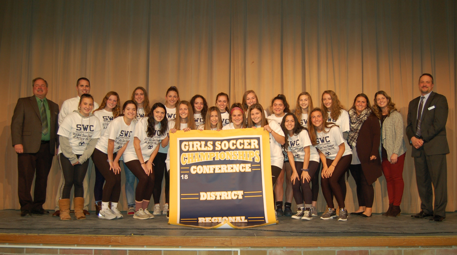 Fall 2018 Southwestern Conference Girls Soccer Champions Recognized