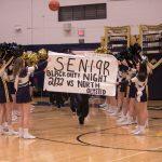 Cheerleading and Boys Basketball Championship Senior Night