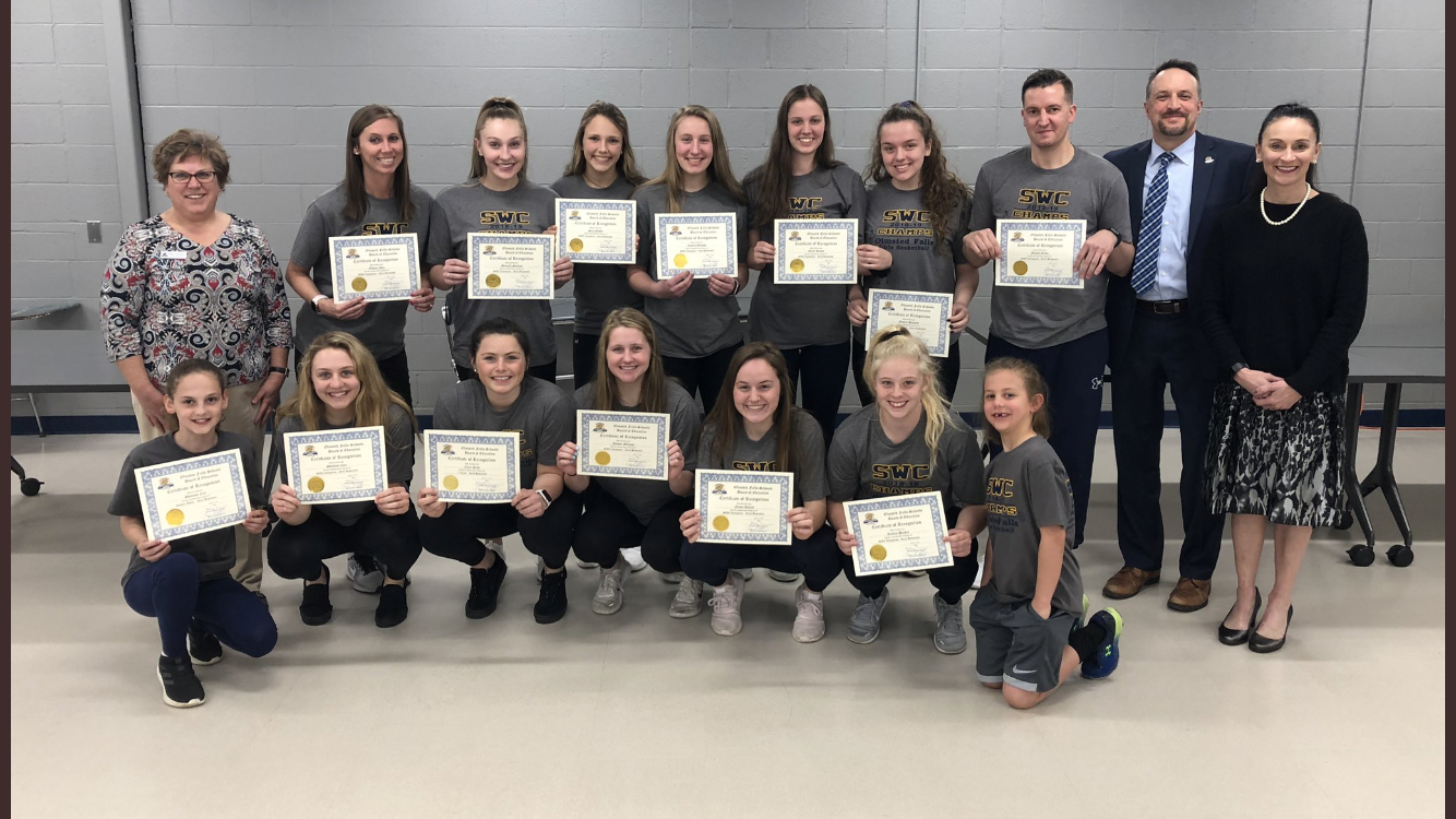 2018 – 2019 Southwestern Conference Championship Girls Basketball Team Recognized