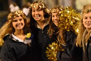 Marching Band, Cheerleading, Golden Bullettes, and Football 10 4 19
