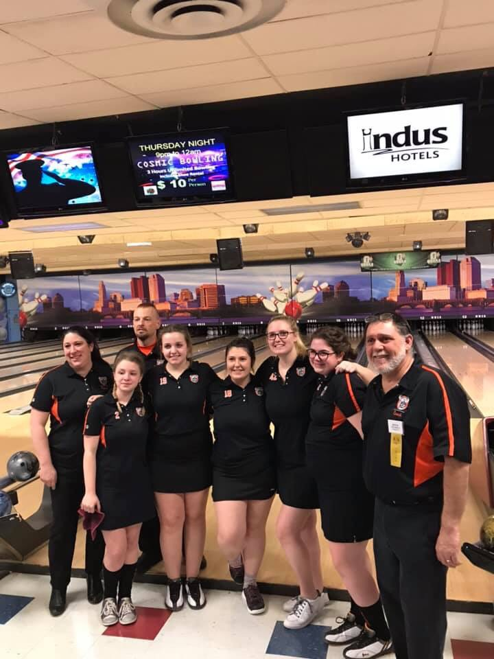 So proud of our Lady Vikings Bowling team!