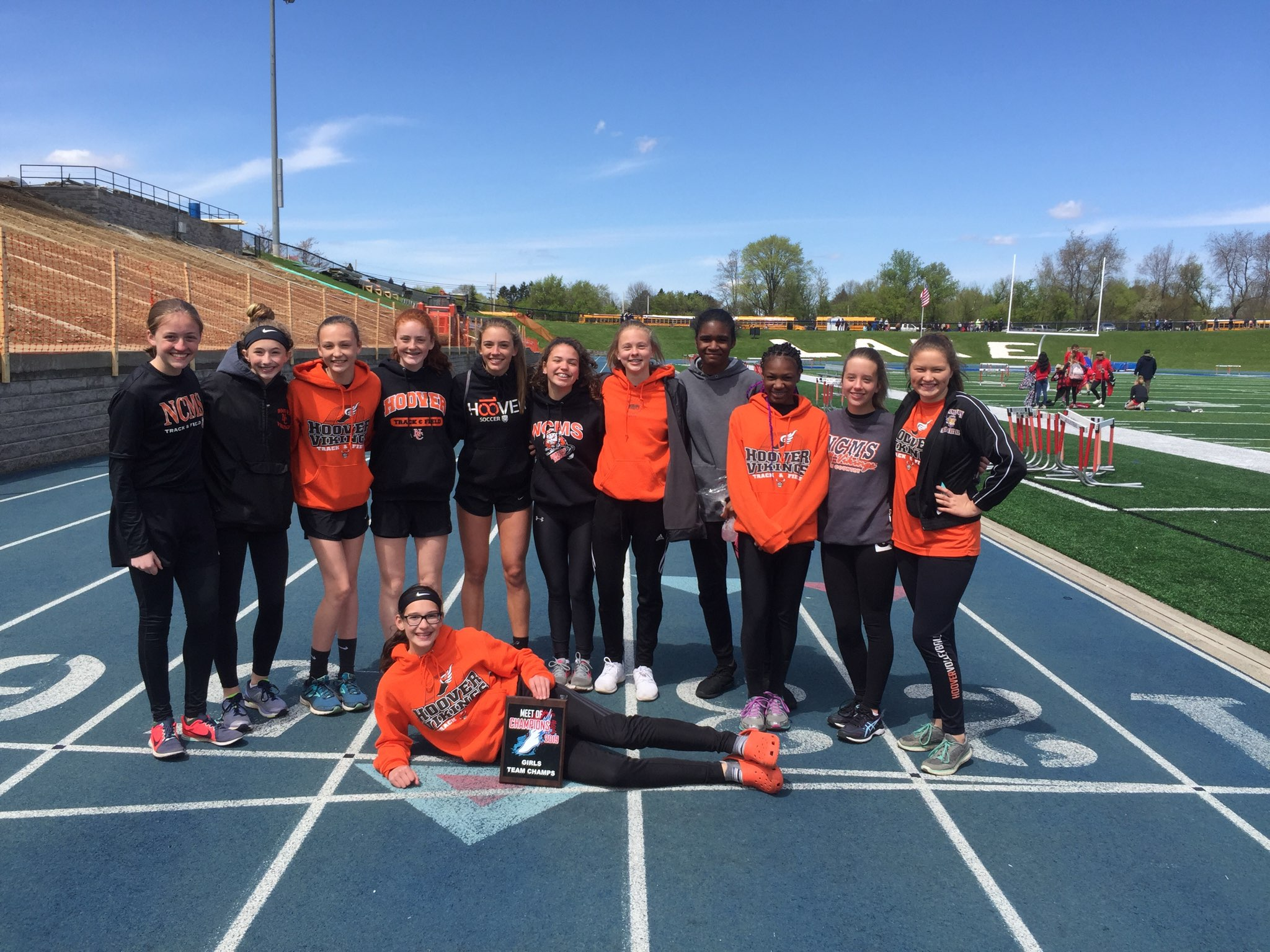 NCMS Girl's Took First Place at the Lake Meet of Champions