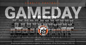 You're Going to Want to Be There! Vikings Take on John Adams 9/13/19