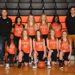 Girls 7th grade Orange Basketball Players 2019-20