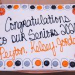 Girls Varsity Basketball Senior Night 2020