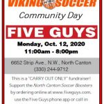 Hoover Soccer Five Guys Night 10/12