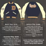 Order your Dacula Letter Jackets  on Wednesday, October 17th or Thursday, October 18th during lunch.