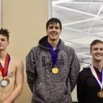 Bradley Dunham, County Champion in the 100 Backstroke