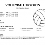 Volleyball Tryouts May 1-3