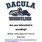 Interested in Wrestling?  Meeting Friday Aug 31st