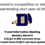 Interested in competition or sideline cheerleading next year at DHS?