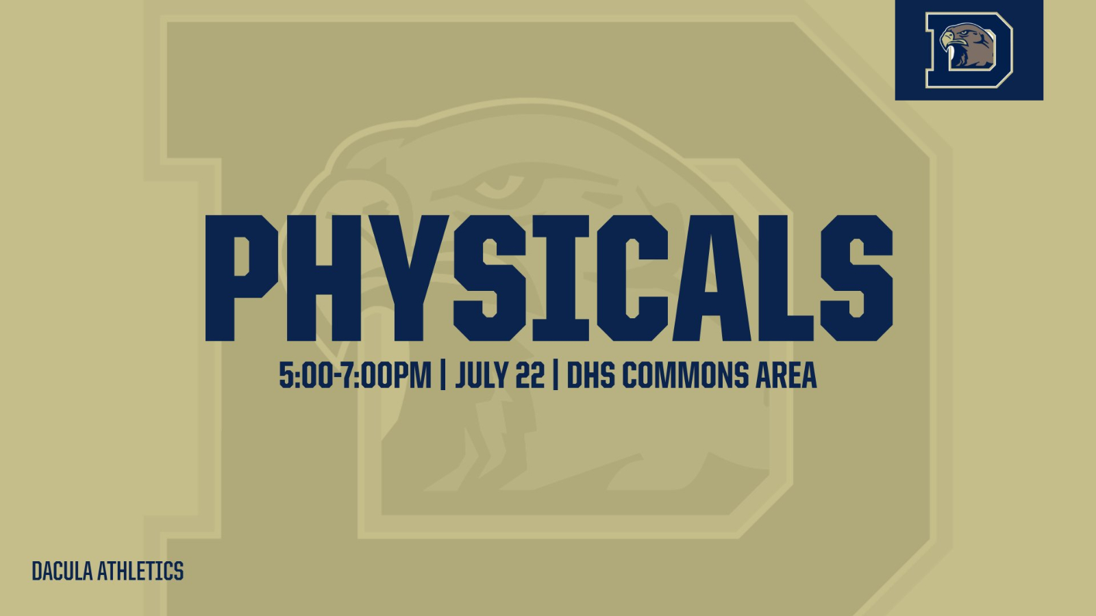 Dacula HS Physicals Information