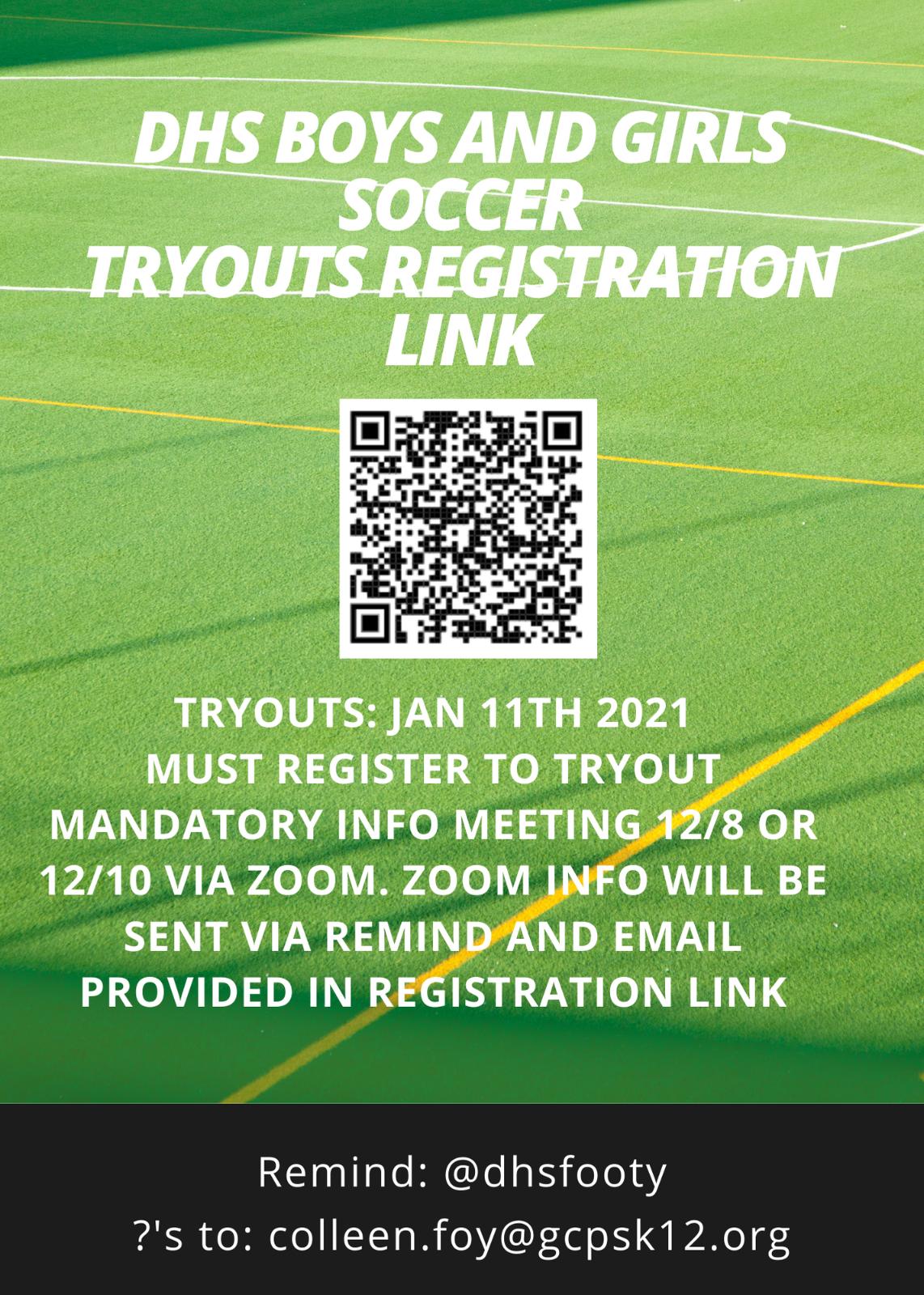 2021 Soccer Tryouts Registration