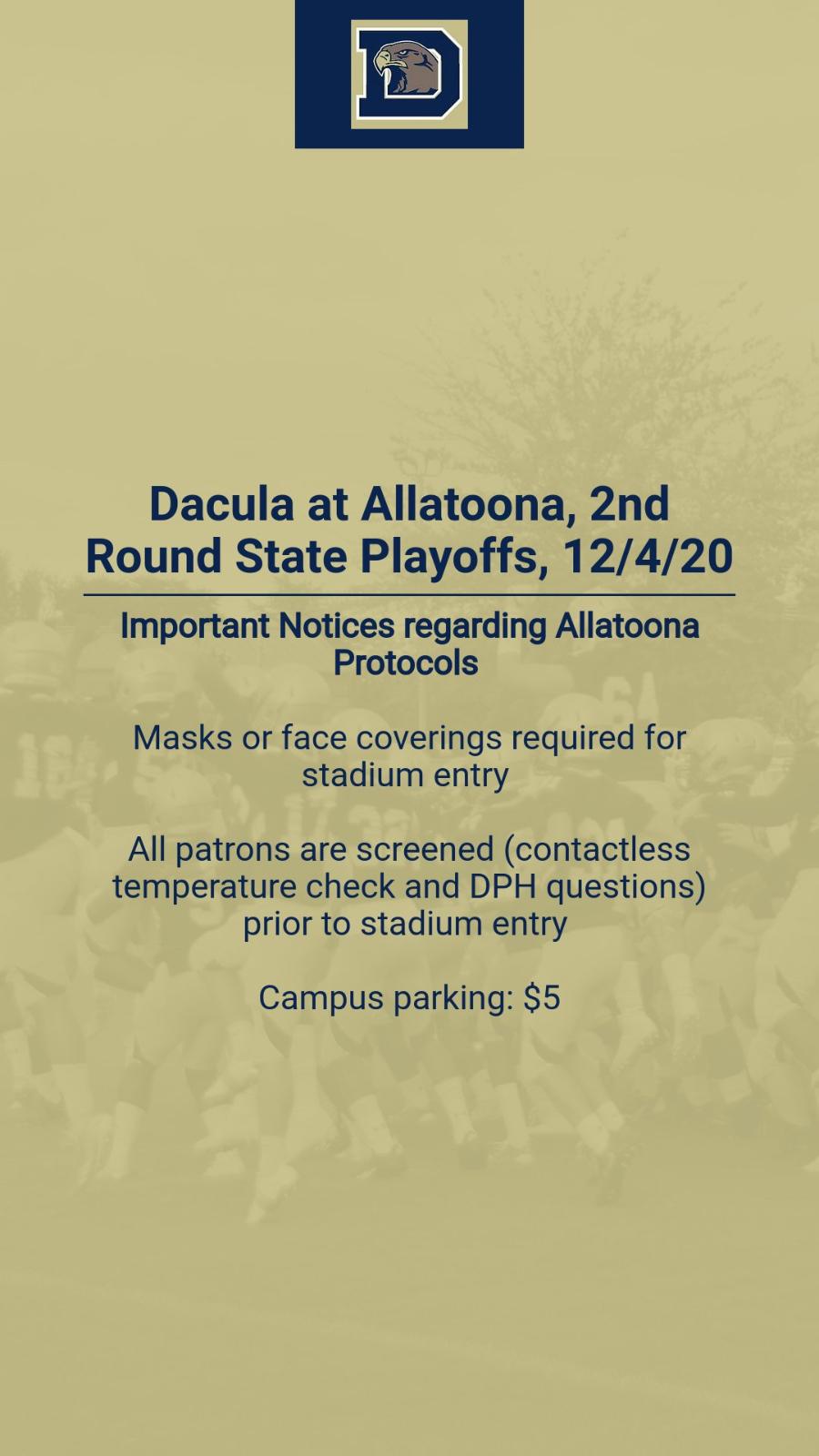 Football Playoffs: 2nd Round @ Allatoona