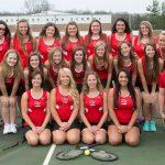Girls Tennis Ties Charlotte 4-4