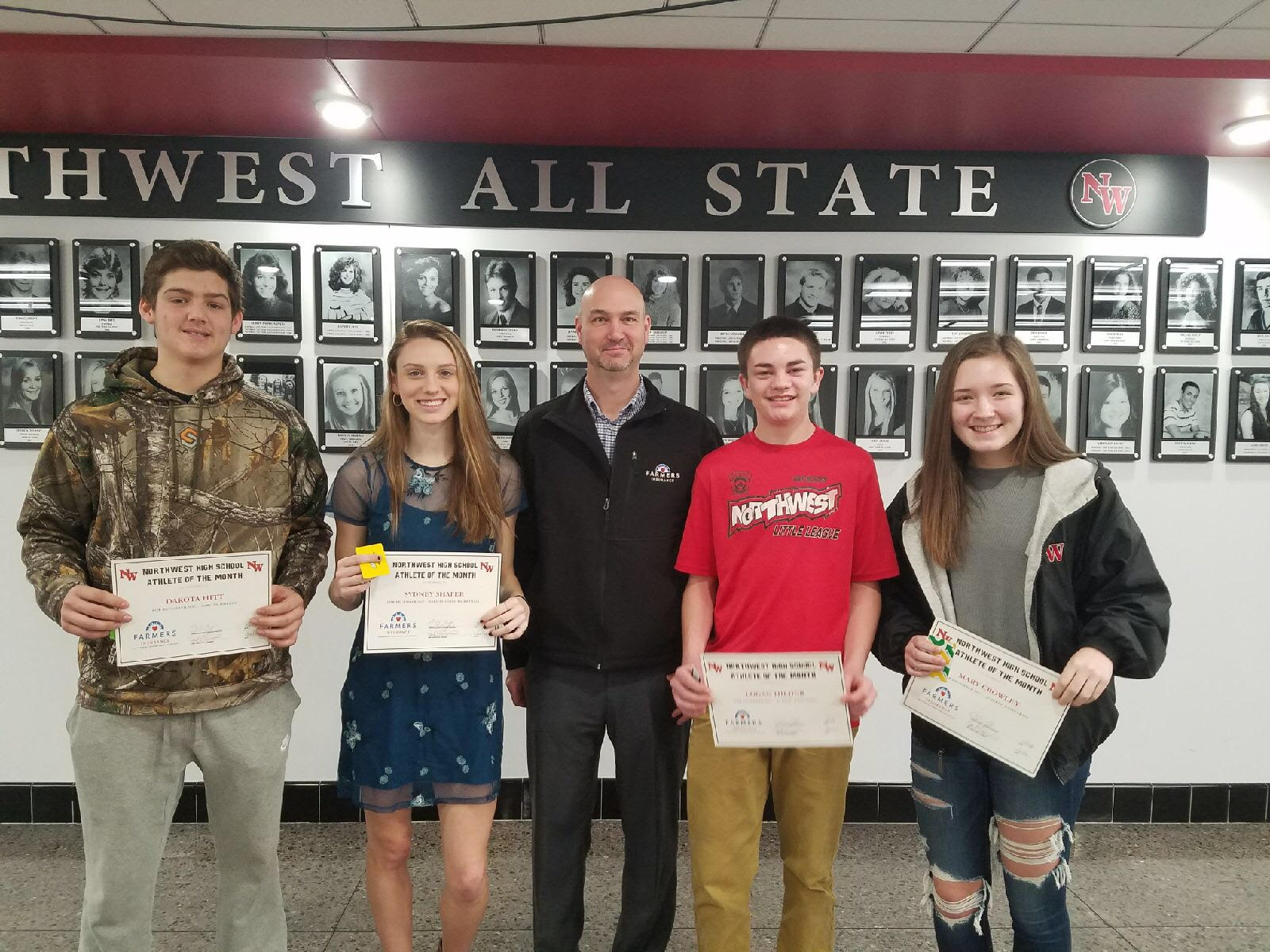 December Athletes of the Month Sponsored by Christner Insurance Services