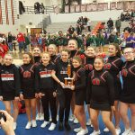 Middle School Cheer Competes at Leslie Invitational