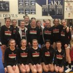 Girls Varsity Competitive Cheer finishes the season at Districts @ Gull Lake