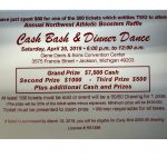 Annual NW Cash Bash – $7,500 Cash Prize