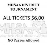 MHSAA District Tournament Admission Price