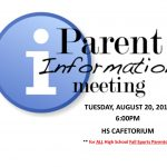 HS Fall Sports Parent Information Meeting