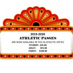 2019-2020 ATHLETIC PASSES – Now Available