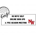 HS Boys' Golf Online Sign-Ups & Pre-Season Meeting