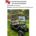 GOLF CART RAFFLE FUNDRAISER – Drawing this Friday – Only 50 tickets left
