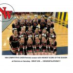 Competitive Cheer Competes at Districts