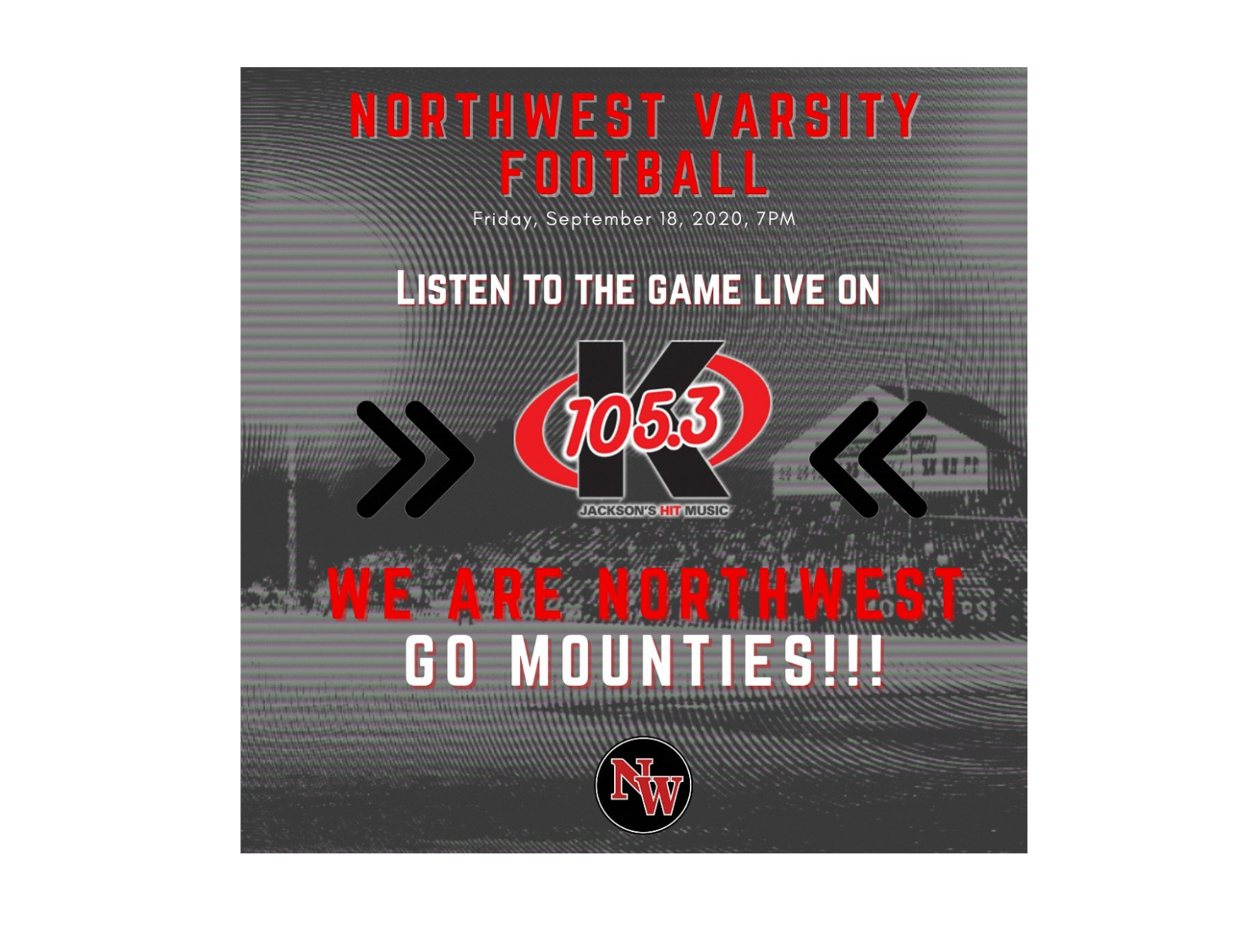 Listen to the NW Varsity Football Game Live on the Radio