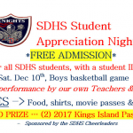 SDHS STUDENT APPRECIATION NIGHT