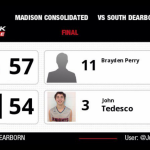 South Dearborn BBB Varsity and JV both lose close 3pt games to Madison
