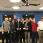 Head Coach, George Gardner and SD Wrestlers were honored at the school board meeting in February.