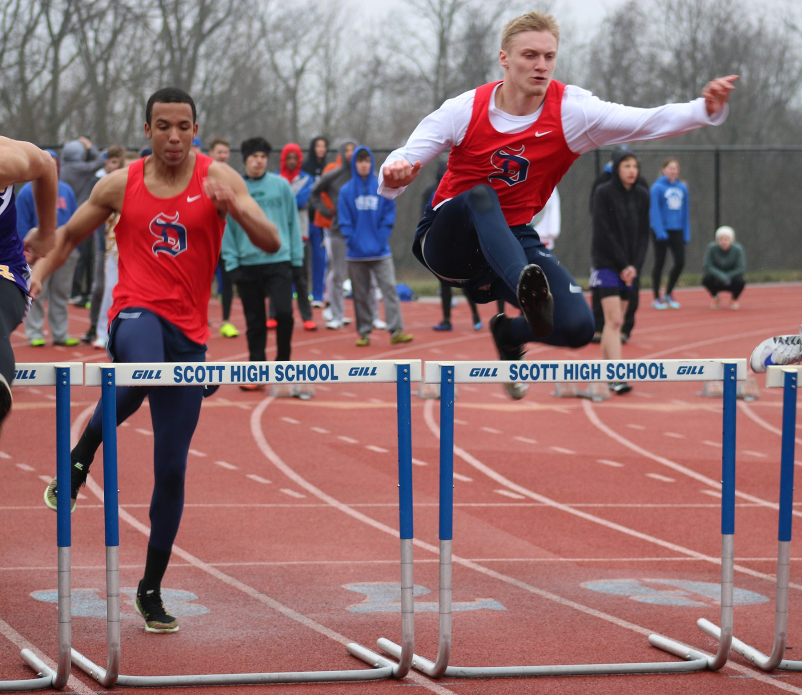 Knights Brave the Cold Rain in First Outdoor Meet