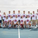 The Knights Boys Tennis Team Competed In a Tough Match Against Milan