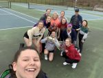 LADY KNIGHTS TENNIS SEASON WILL OPEN TOMORROW AT HOME AGAINST OLDENBURG