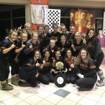 Girls Varsity Gymnastics finishes 1st place at OPEN DATE (Brecksville Roll N Roll)