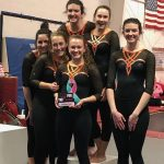 Girls Varsity Gymnastics finishes 3rd place at Flip for the Cure Invitational