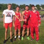 4×800 sets record in boys track sectional