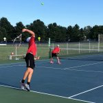 Tennis shines in scrimmage