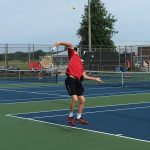 Tennis sweeps Yorktown, improves to 2-0