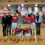 Girls basketball wins on Senior Night
