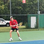 Tennis falls in close match