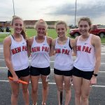 Shaw, 4×800 win regional titles, team 3rd