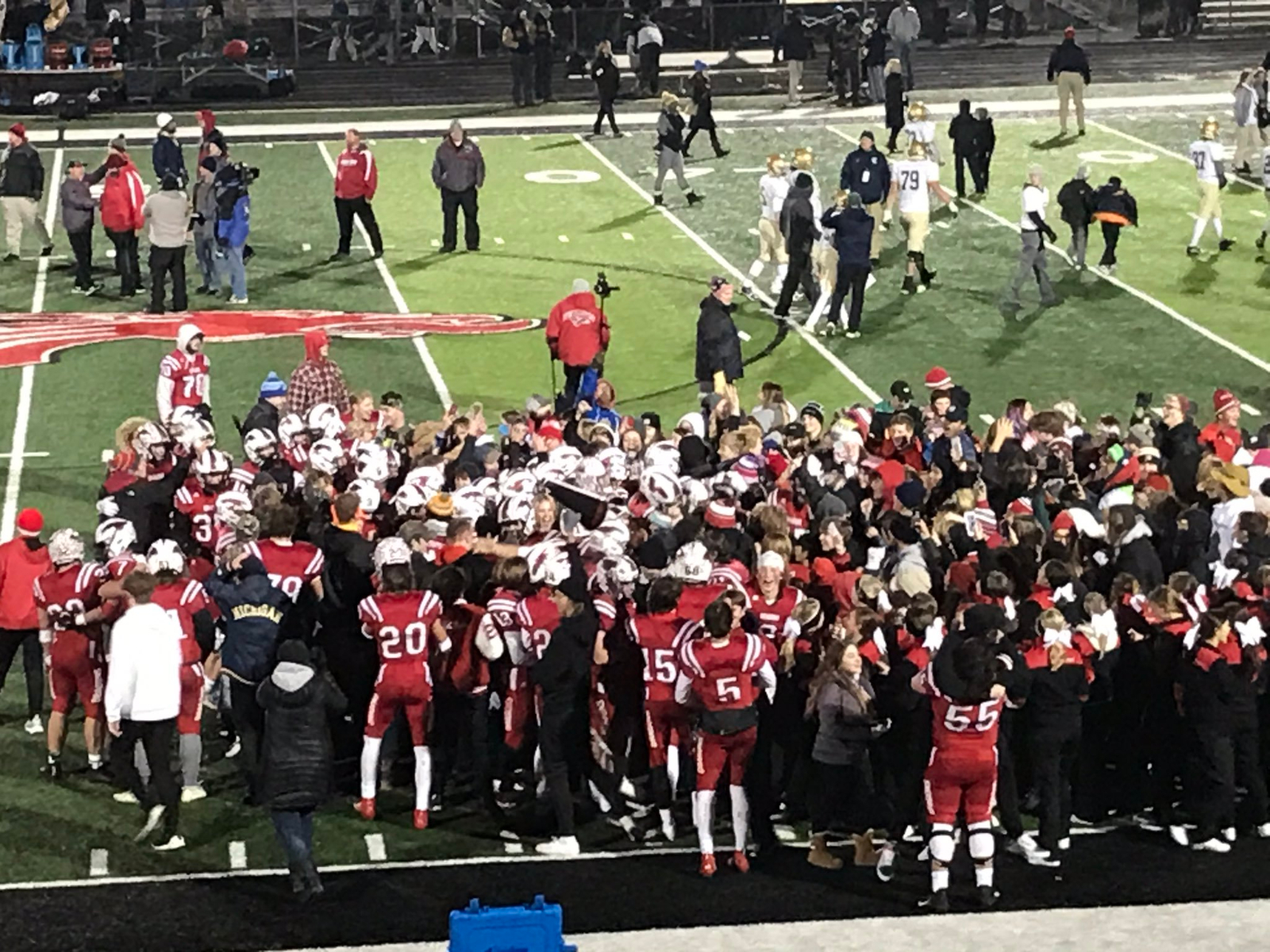 Football overwhelms Cathedral in second half for regional title