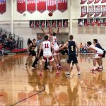 Boys basketball defends home court against No. 5 Delta