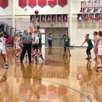 Girls basketball starts strong, but falls to ranked foe